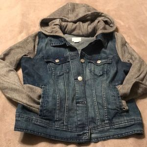 Old Navy Jean Jacket with a hood